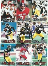 1997 Pacific Silver & Copper Pittsburgh Steelers 7 card lot