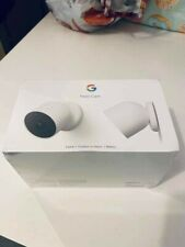 Google Nest Cam 2-Pack  Indoor & Outdoor Smart Security Camera - Battery - White