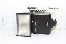 FLASH BRAUN VarioZoom 340 Piedino Standard SCA 110 a 3 Poli per Reflex Canon FD