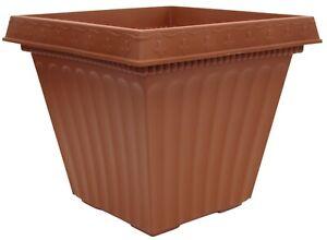 Large 40cm Square Garden Planter Plant Pot Plastic Trough Raised Planter Terra