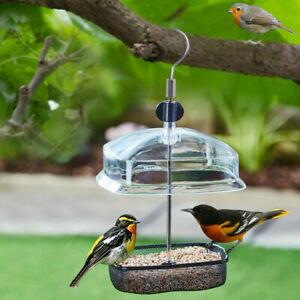 Hanging Wild Bird Feeder Station Height Adjustable Baffle Dome Peanut Seed Feed