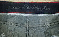 L.L. BEAN SLIM LEG STRETCH DENIM JEANS MISSES SIZE 16 TALL EXCELLENT USED COND.