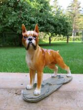 Boxer Dog Figurine Statue Resin Ornament New 10x8.5 inches Standing Gift Pet