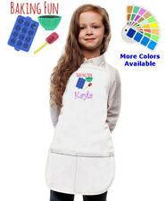 Personalized Kids Apron with Baking Fun Embroidery Design