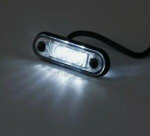 WHITE 24v flush fit led marker light for Kelsa bars, like Hella led,