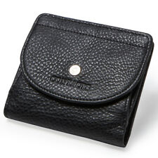 Women's Genuine Leather Wallet Utra-Thin Card Holder Lady Front Pouch Soft Purse