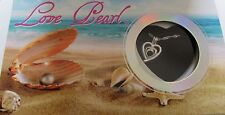 Love Pearl Heart Necklace & Pendant-  genuine pearl in oyster pretty box
