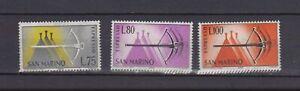 S27657) Dealer Stock San Marine 1966 MNH Neu Espressi 3v. (X10 Sets)