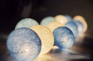 20 Purist Blue Ball Fairy Night Light Beach Boy Party Wedding Event BATTERY PWR