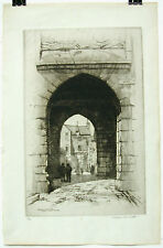 PORTE ET LOGIS DU ROI-MONT SAINT MICHEL-CAROLINE H. ARMINGTON (1875-1939)