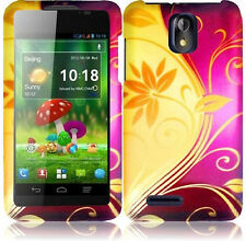 Cricket ZTE Engage LT N8000 Rubberized HARD Protector Phone Case Splendid Swirl
