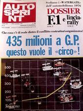 Autosprint 47 1976 James Hunt Niki Lauda - Speciale Motor Show [Sc.40A]