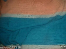 Vintage Afghan  Throw Hand crafted Crochet   Afaghan