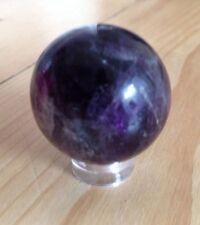 AMETHYST SPHERE 4.5CM  CRYSTAL BALL GEMSTONE HEALING NEW AGE REIKI WICCA PAGAN