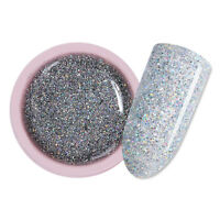 5ml Silber Soak Off UV Gellack Schimmern Glitzer Nail Art Gel Nagellack UR SUGAR