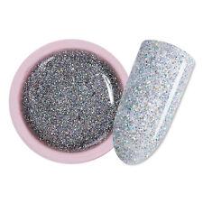 5ml Nail Art Soak Off UV Gel Polish Shimmer Glitter Silver LED Varnish UR SUGAR