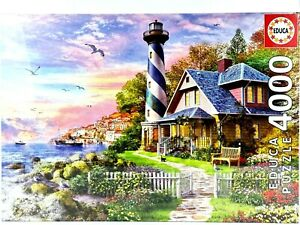 EDUCA 4000 Piece Tile Jigsaw Puzzle Lighthouse at Rock Bay 136 x 96 cm 17677 New