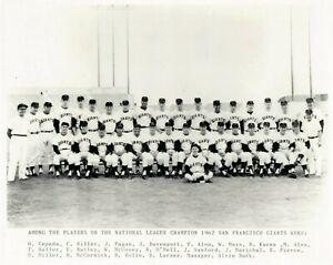 1962 National League Champion San Francisco Giants 8x10 Team Photo