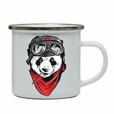 Cool panda illustration design enamel camping mug outdoor cup