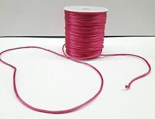 10 Yards 2 mm Satin Rattail Cord-string in PINK FUCHSIA- Cordon Cola de Rata