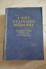 L'ART CULINAIRE MODERNE / LA BONNE TABLE FRANCAISE ET ETRANGERE / 1936