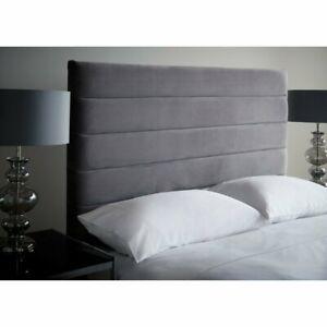 """Luxury Plush Velvet Fabric 54"""" Height Floor Standing Upholstered Bed Headboard"""