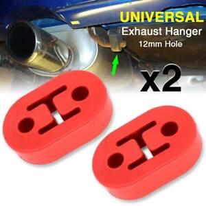 2 Pc Universal  2 Holes Car Muffler Exhaust Pipe Mounting Bracket Hangers Repair