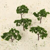 5Pcs Dark Green Height 10cm Model Trees Scale Train Railroad Scenery Layout