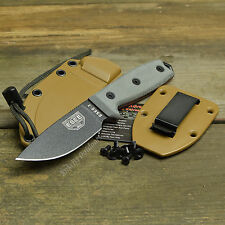 ESEE-3P 1095 Plain Edge Fixed Blade Survival Camp Knife Coyote Brown Sheath