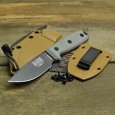 ESEE-3P 1095 Plain Edge Fixed Blade Survival Camp Knife Coyote Brown Sheath