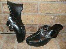 "Cole Haan Black Leather Wedges 8 B / 3.275"" Heel D17476 Mint!"