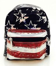 CLAIR'S AMERICAN FLAG MINI BACK PACK WITH FRONT ZIP POCKET NEW!
