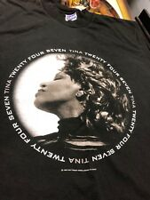 VTG Tina Turner 1999 24/7 around the world 2000 Tour Concert Music T- Shirt XL