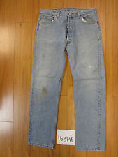 used Levis 501 destroyed feathered grunge USA jean tag 36x32 meas 32x31.5 16314F
