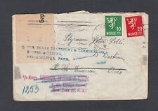 NORWAY 1940 WWII GERMANY CENSORED REDIRECTED COVER ALESUND TO OSLO