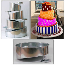 "4 Tier Topsy Turvy Round Birthday Wedding Anniversary Cake Tin  6"" 8"" 10"" 12"""