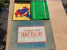 SCARCE EARLY ADOLPH SUBBUTEO TABLE RUGBY ALL ORIGINAL BOXED WITH INSTRUCTIONS