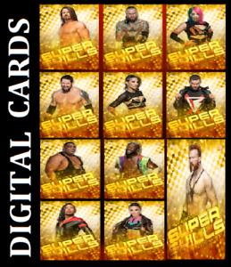 Topps SLAM WWE SUPER SKILLS 2021 [ SET 11 CARDS GOLD REFRACTOR SUPER RARE]