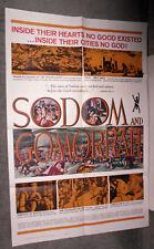 SODOM AND GOMORRAH orig 1963 poster STEWART GRANGER/ROSSANA PODESTA/ANOUK AIMEE