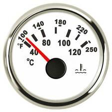 52mm Silver Water Temperature Gauge Boat Car Truck 9-32V 40-120 ℃ 287.4-22.4ohms
