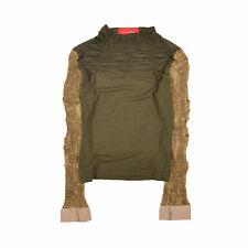 Eva & Claudi Damen Bluse Hemd Top Shirt Blouse Gr.M (DE 38) Party Grün 90015