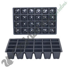 25 X 24 Cell Full Size Seed Tray Inserts Plug Trays Bedding plant Packs Plastic
