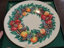 Lenox Colonial Christmas Wreath Plate 1988 Delaware