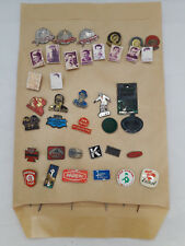 Vintage Pins Lot Of 63 Old Pins Europe Ajax Churchill Parein Avia