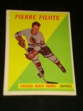 PIERRE PILOTE1958 Topps #36,Chicago Black Hawks, Hockey Card, HALL OF FAME