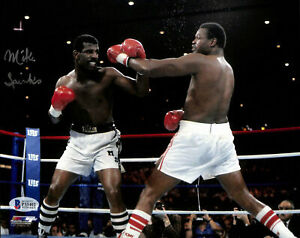 Michael Spinks Authentic Signed 8x10 Photo versus Larry Holmes BAS Witnessed
