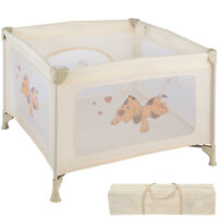 Portable Child Baby Infant Playpen Travel Cot Bed Crawl Play Area new beige new