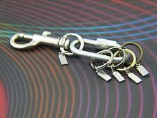 Designer Keychain color Detachable Key rings Key Holder Secure Clip-on ID tag