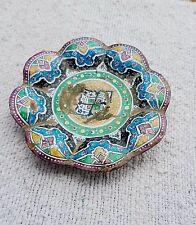 Vintage Rare Original Beautiful Design Copper Enamel Painted Plate