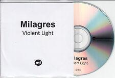 MILAGRES Violent Light UK 10-trk promo test CD Memphis Industries